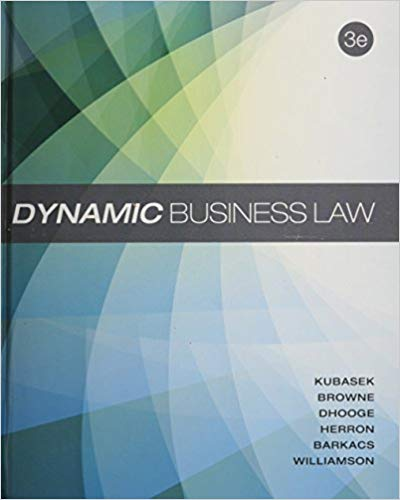 Dynamic Business Law 3rd Edition