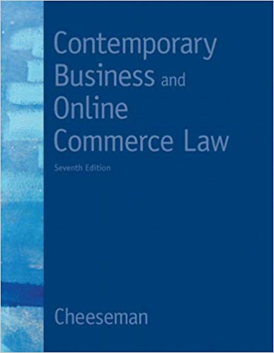 Contemporary Business And Online Commerce Law 7th Edition
